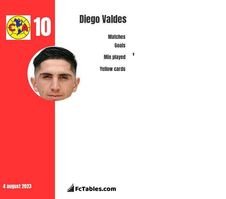 Diego Valdes infographic