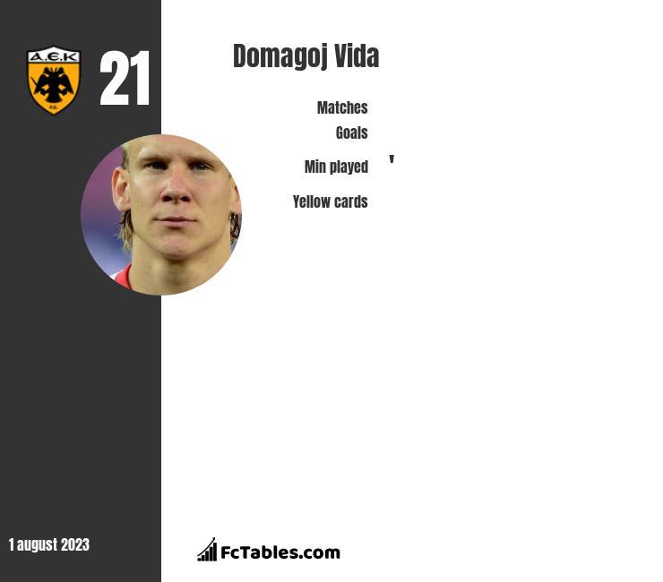 Domagoj Vida infographic