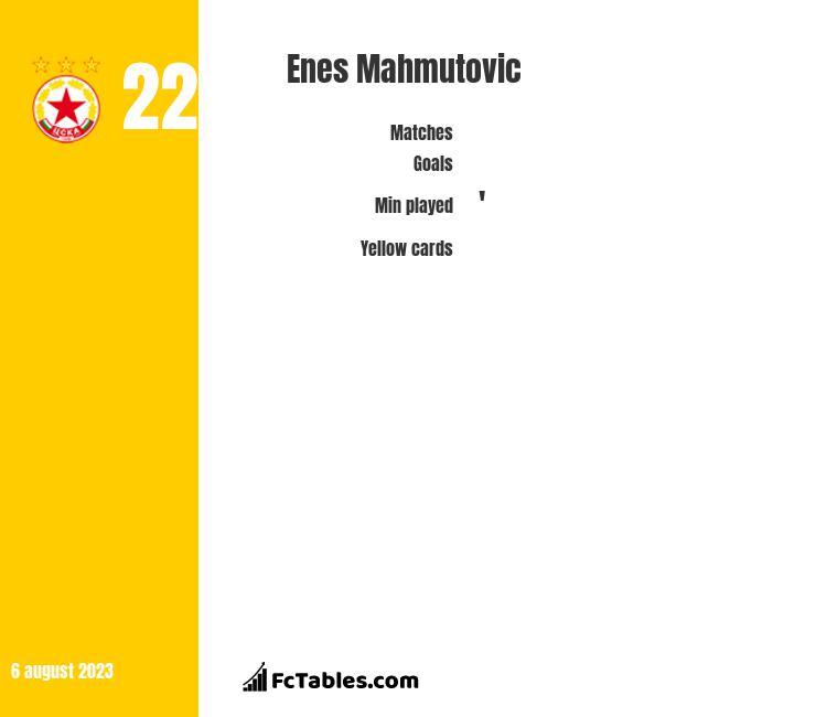 Enes Mahmutović infographic