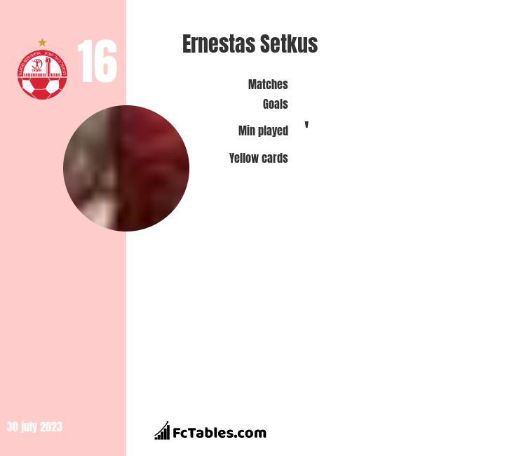Ernestas Setkus infographic