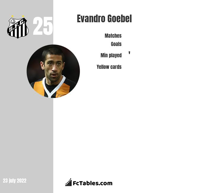 Evandro Goebel infographic statistics for Hull City