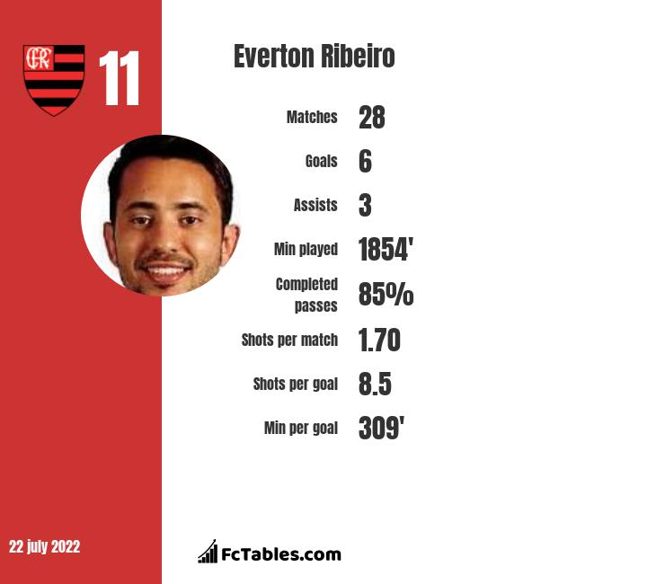 Everton Ribeiro infographic statistics for Flamengo