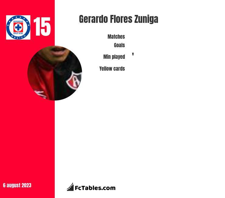Gerardo Flores Zuniga infographic