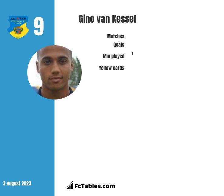 Gino van Kessel infographic