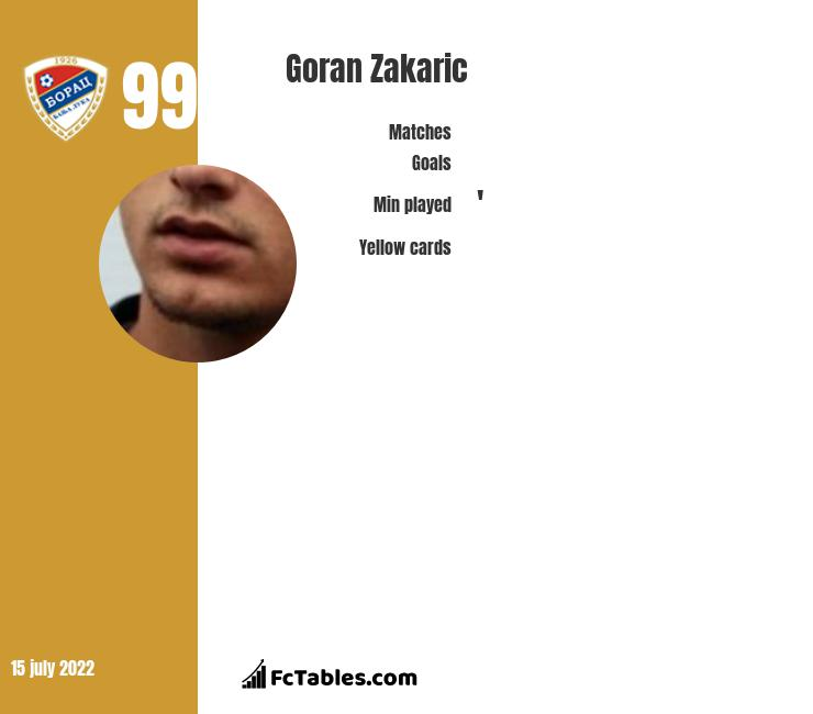 Goran Zakarić infographic