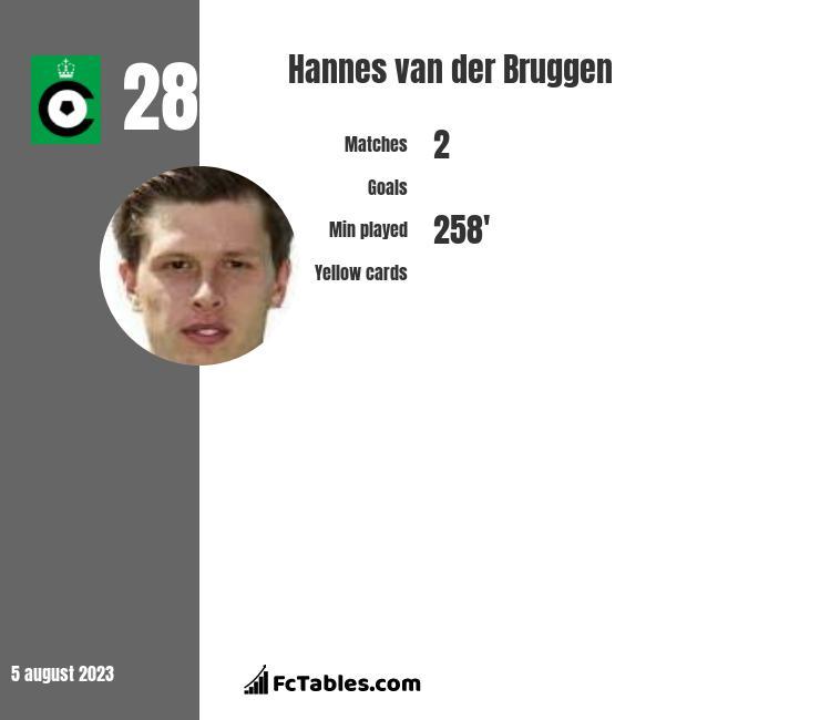 Hannes van der Bruggen infographic
