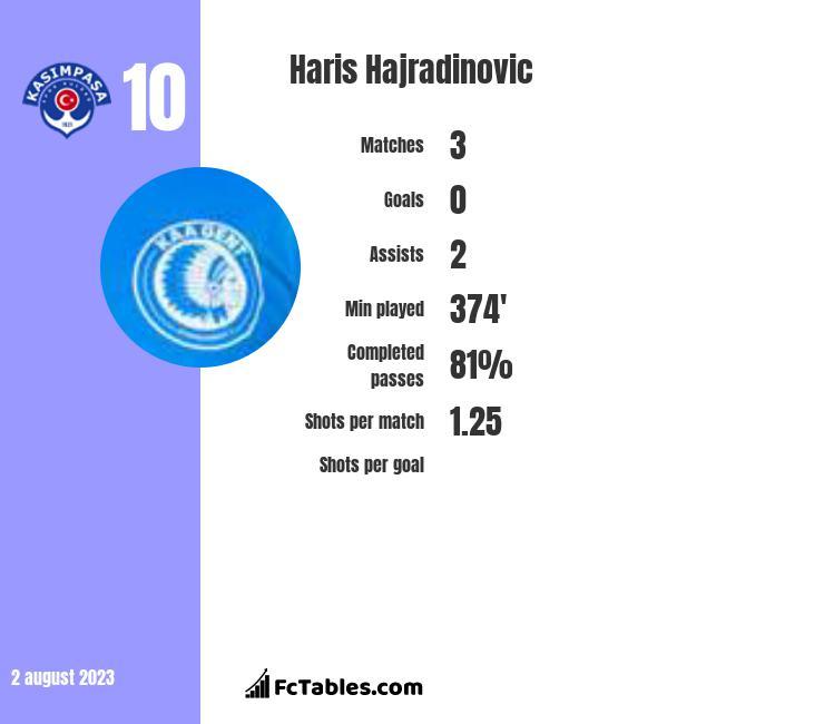 Haris Hajradinovic infographic