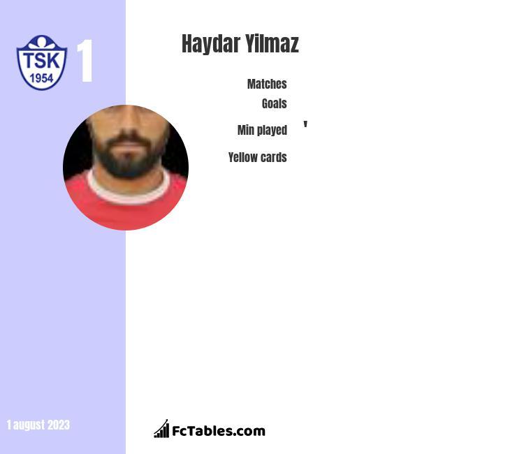 Haydar Yilmaz infographic