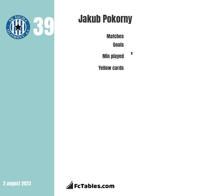 Jakub Pokorny infographic