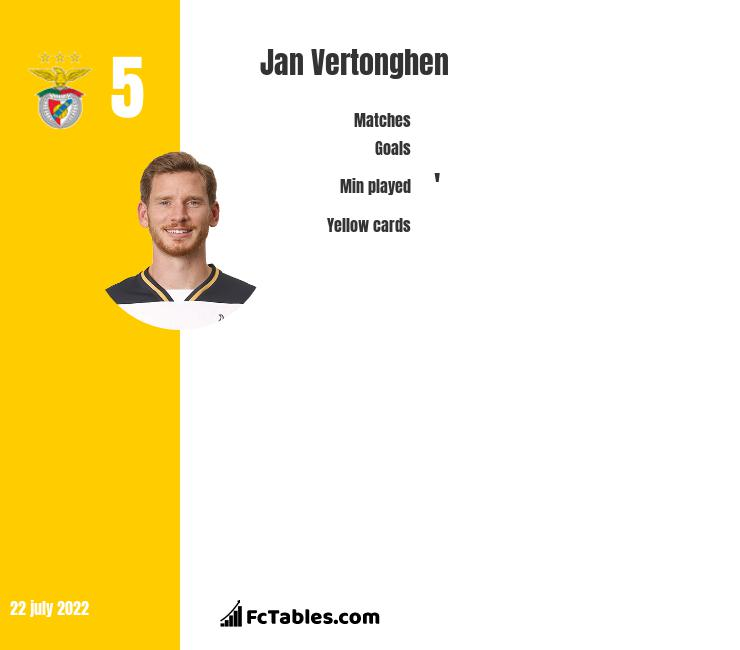Jan Vertonghen infographic statistics for Tottenham
