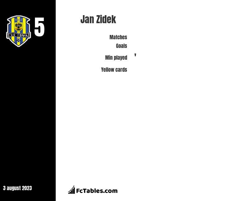 Jan Zidek infographic