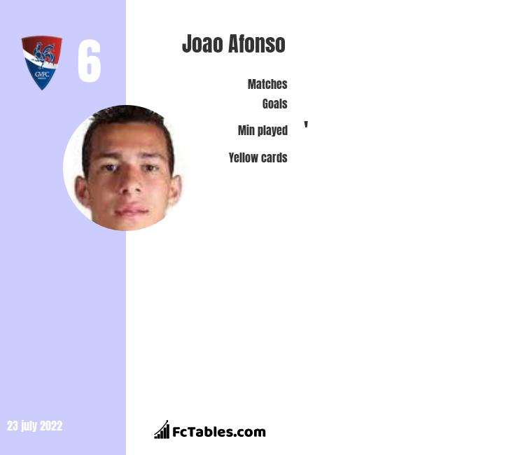 Joao Afonso infographic