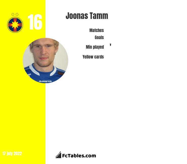 Joonas Tamm infographic
