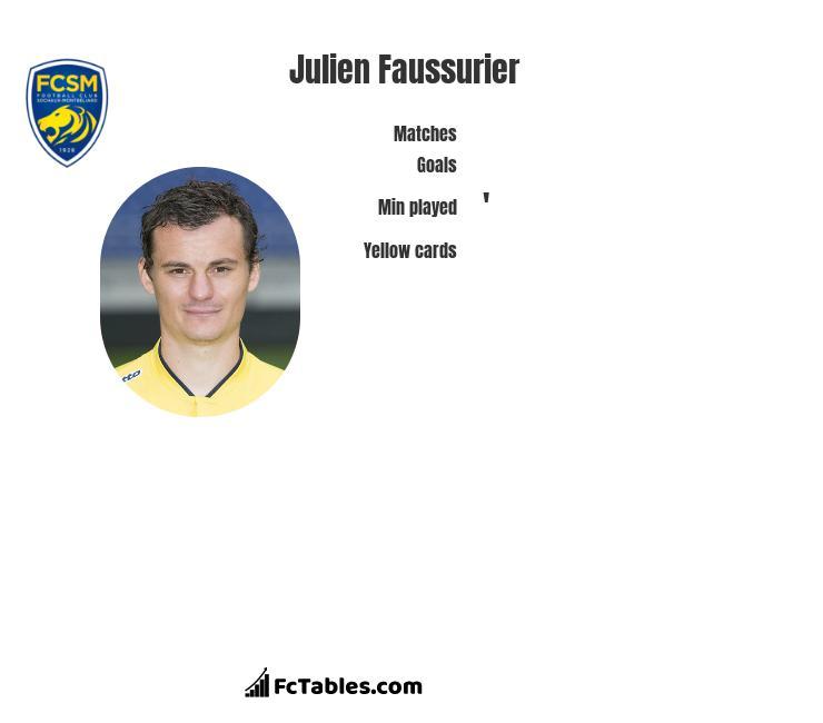 Julien Faussurier infographic
