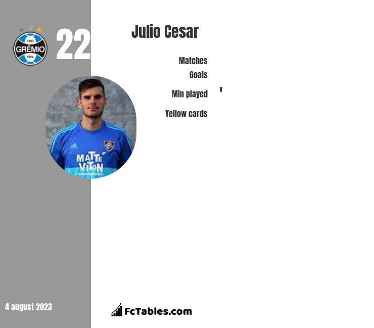 Julio Cesar infographic