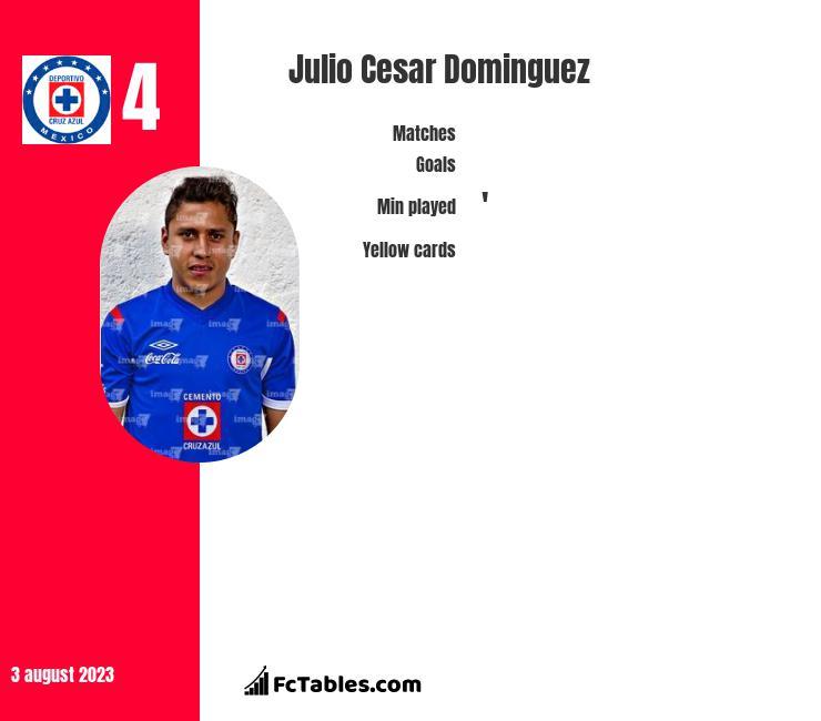 Julio Cesar Dominguez infographic