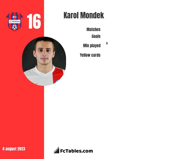 Karol Mondek infographic