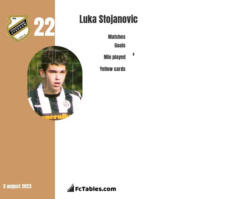 Luka Stojanovic infographic