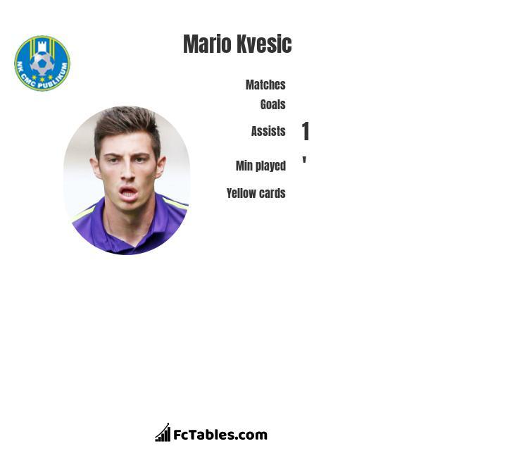 Mario Kvesic infographic