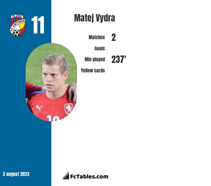 Matej Vydra infographic