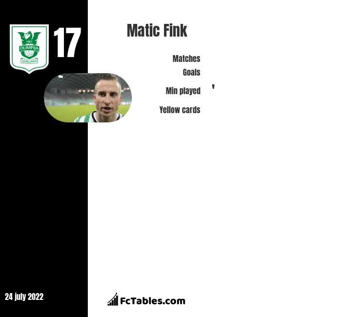 Matic Fink infographic