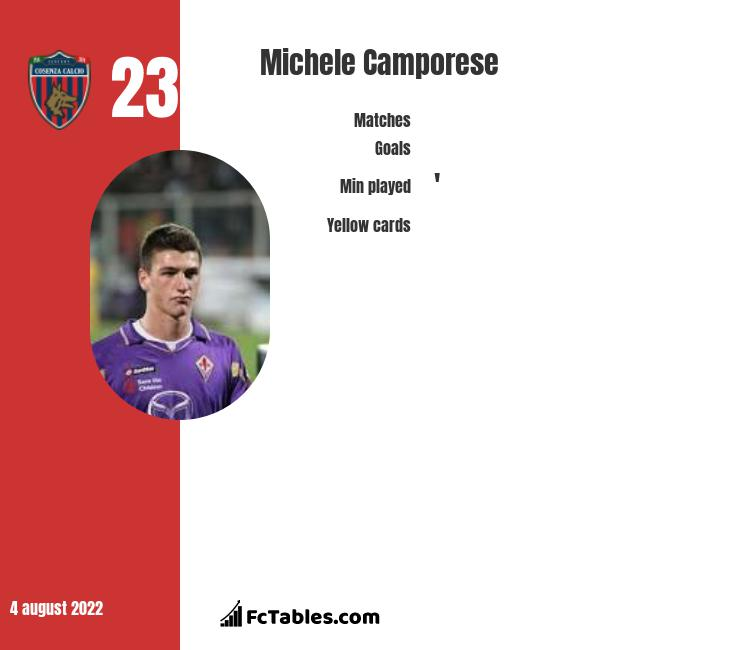 Michele Camporese infographic