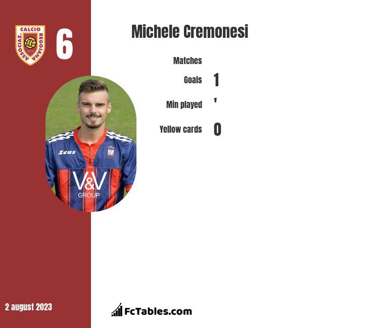 Michele Cremonesi infographic