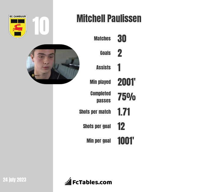 Mitchell Paulissen infographic