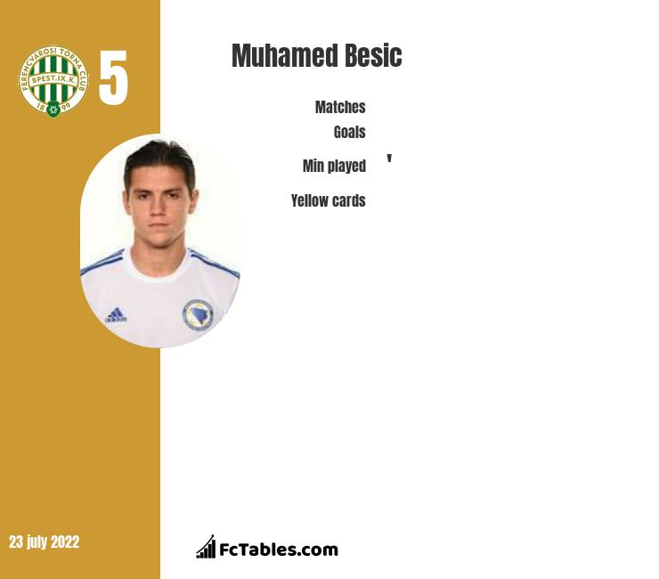 Muhamed Besić infographic statistics for Sheffield United