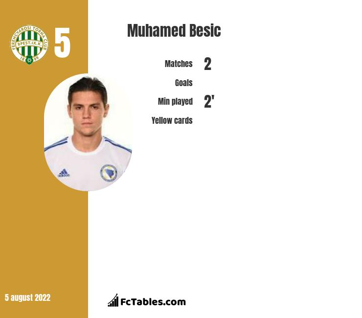 Muhamed Besic infographic