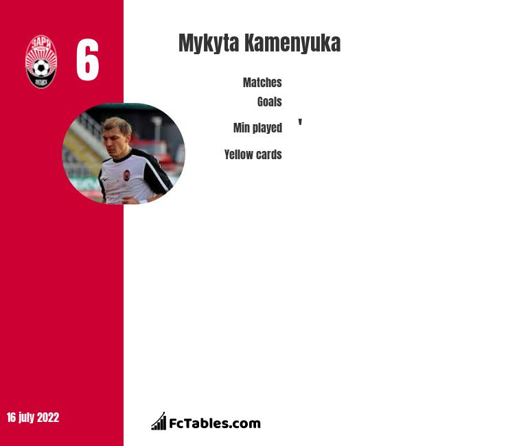 Mykyta Kamenyuka infographic