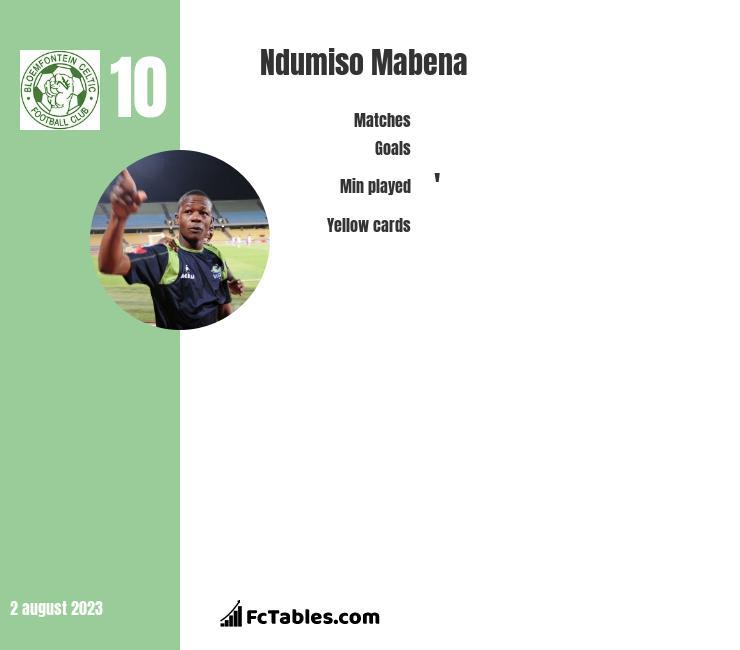 Ndumiso Mabena infographic
