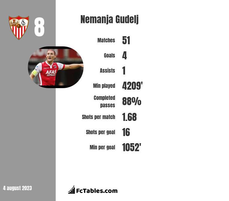 Nemanja Gudelj infographic