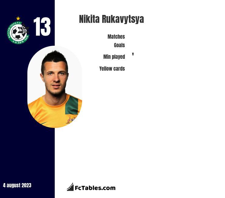Nikita Rukavytsya infographic