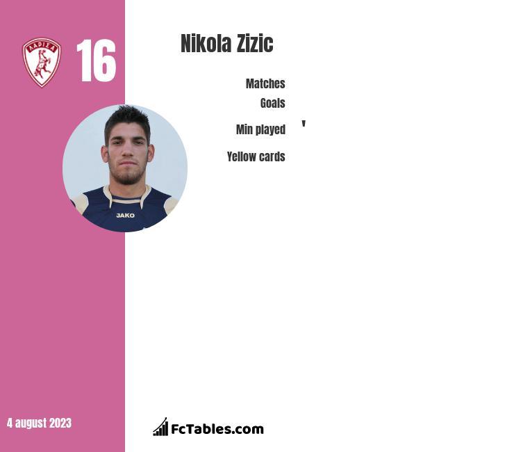 Nikola Zizic infographic