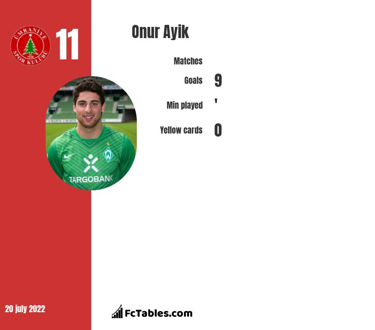 Onur Ayik infographic