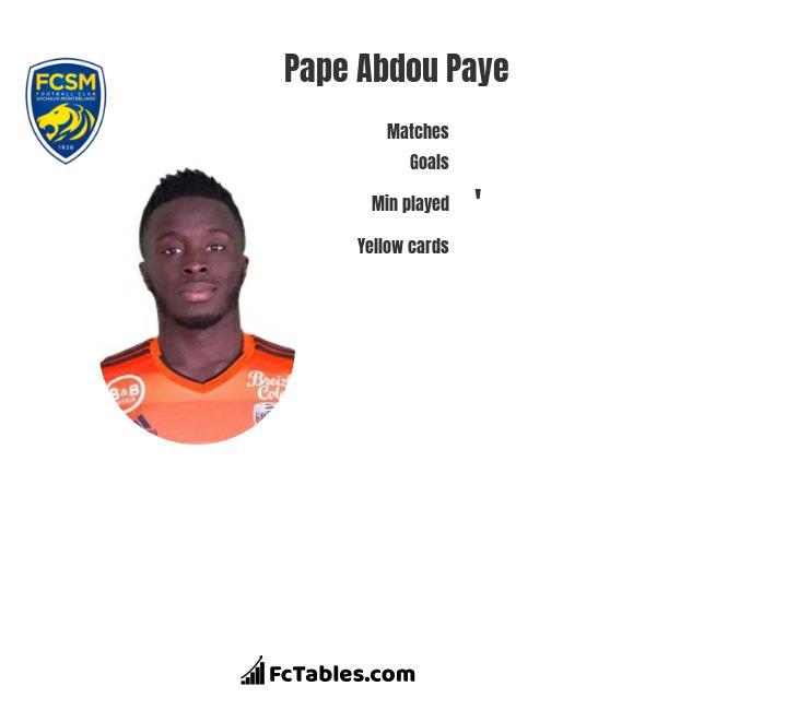 Pape Abdou Paye infographic