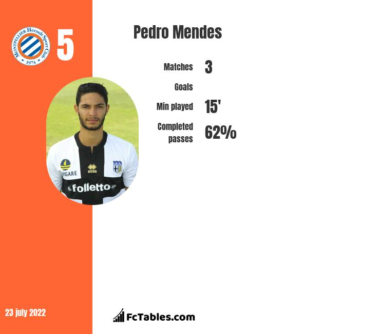 Pedro Mendes infographic