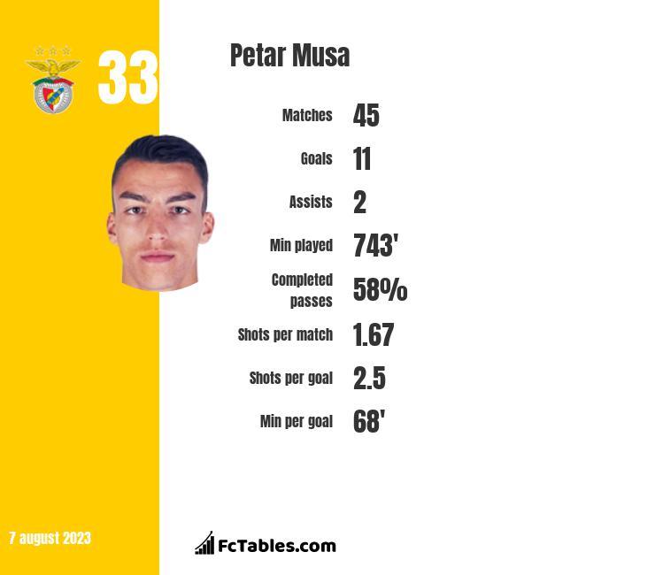 Petar Musa infographic