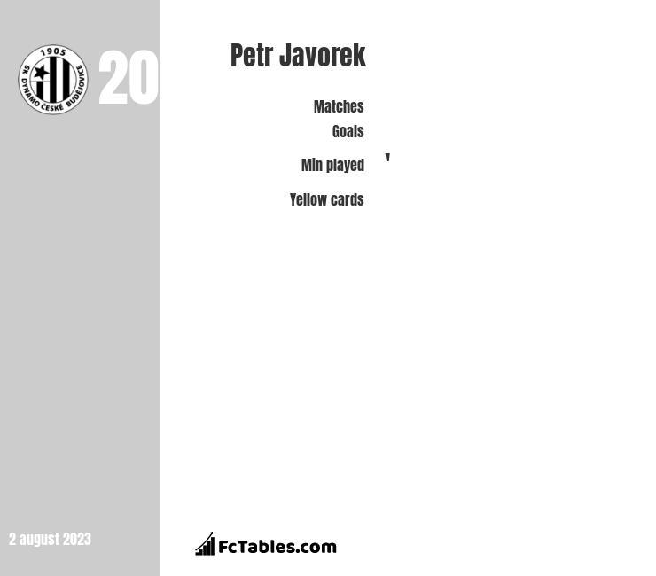 Petr Javorek infographic