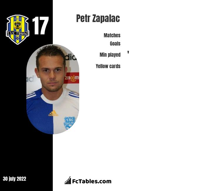 Petr Zapalac infographic
