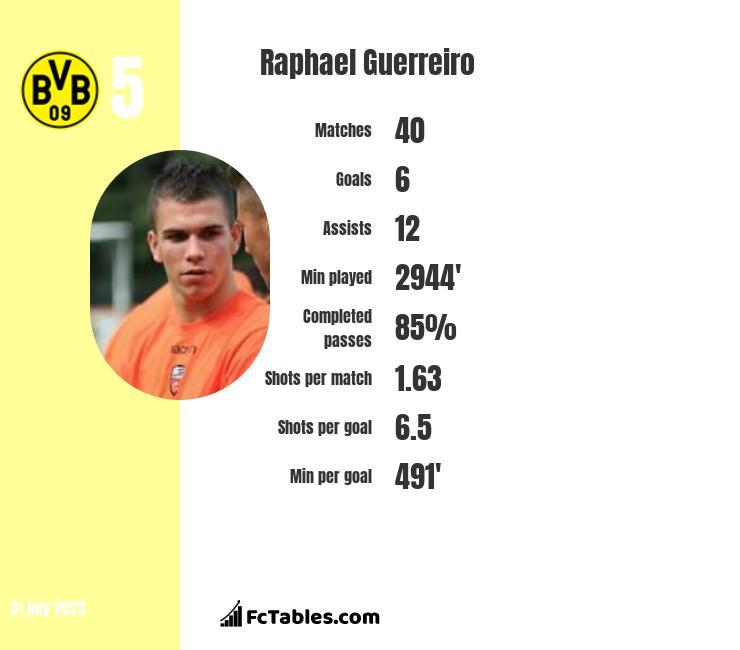 Raphael Guerreiro infographic