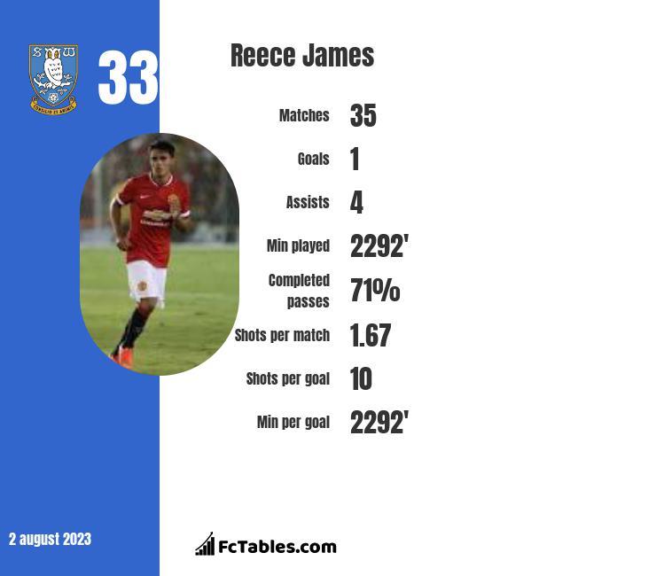 Reece James infographic