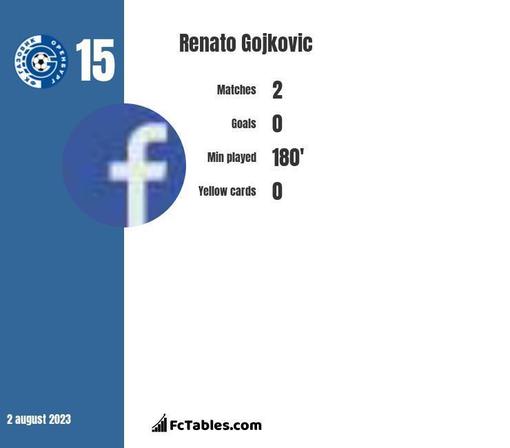Renato Gojkovic infographic