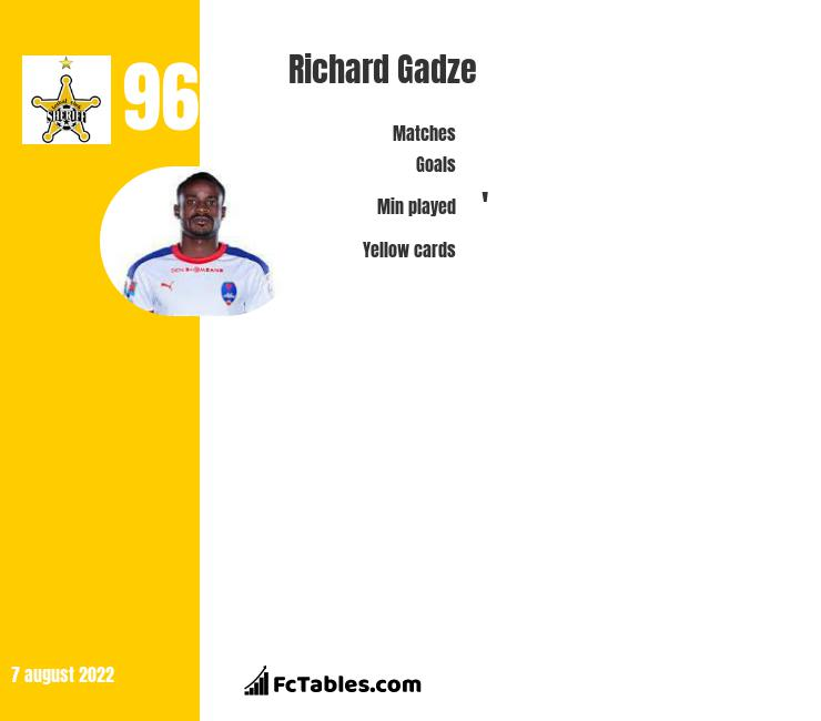 Richard Gadze infographic