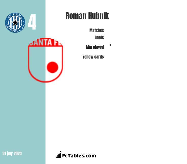 Roman Hubnik infographic