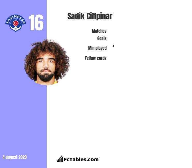 Sadik Ciftpinar infographic