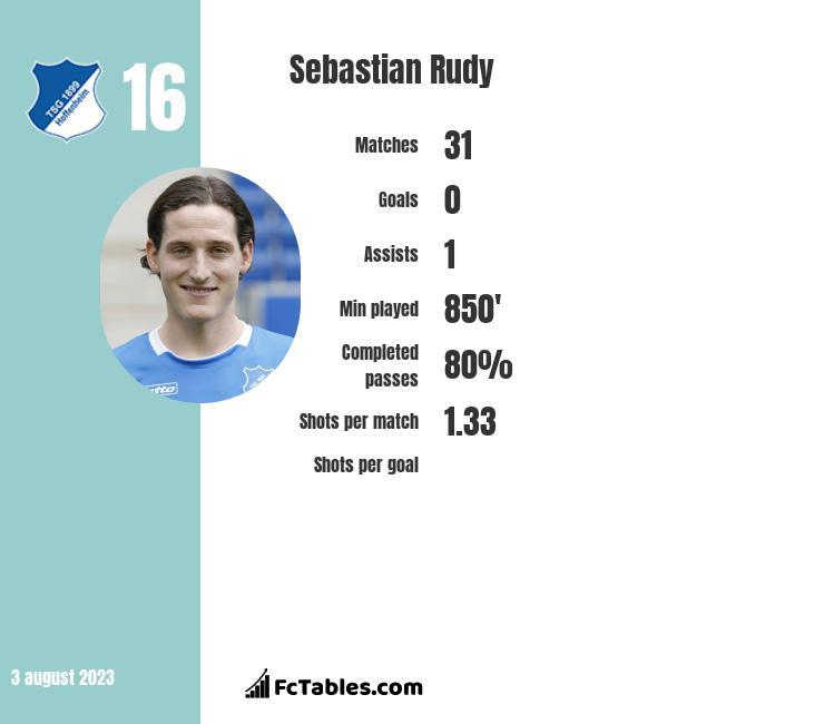 Sebastian Rudy infographic