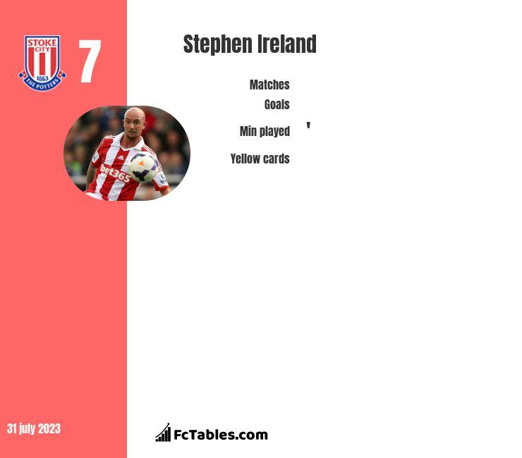 Stephen Ireland infographic