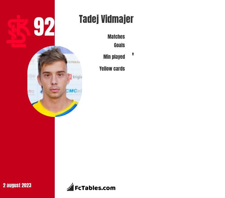 Tadej Vidmajer infographic